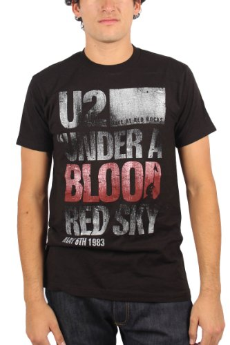 U2 - Uomo Under a Blood Rosso Sky T-Shirt in Nero, XX-Large, Nero