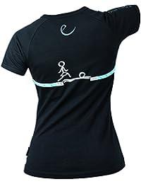 Edelrid Women's Rope T - Camiseta de escalada, todo el año, mujer, color negro - Gentelman (159), tamaño XXS