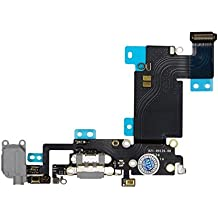 "FLAT CONNETTORE DI RICARICA JACK AUDIO MICROFONO PER IPHONE 6S PLUS 5.5"" SILVER e SPACE GREY by Ellenne Store"