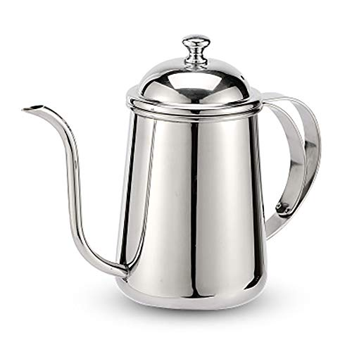 MYD888 650 Ml Edelstahl Über Kaffee Gießen Wasserkocher Schwanenhals Wasserkocher Hand Drip Tee Pot Mit Lang Schlank Auslauf Silber