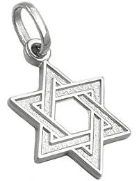 Bijoux Pendentif argent 925 étoile de david 23 x 17 mm