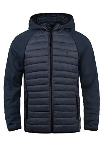 Blend Nils Sporty Herren Steppjacke Übergangsjacke Jacke gefüttert mit Kapuze, Größe:XL, Farbe:Navy (70230) -