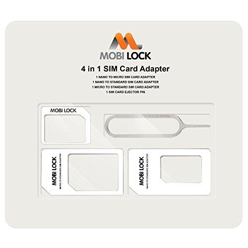 Mobi Lock - Adaptateur carte Sim 4 en 1 (Sims Micro, Nano et Standard) - par Mobi Lock