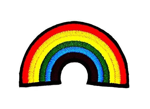 Boy Diy Skelett Kostüm (rabana Rainbow Cartoon Kids Kinder Cute Animal Patch für Heimwerker-Applikation Eisen auf Patch T Shirt Patch Sew Iron on gesticktes Badge Schild)