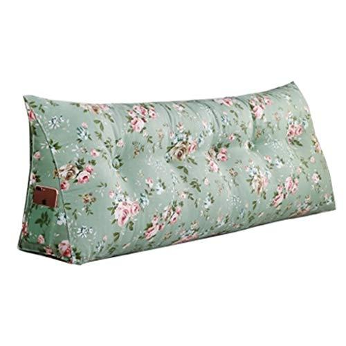 Coussins Coussin coussins triangulaires de sac souple Ceinture protectrice de dos coussins de coussins longs vert clair canapé de tatami de chambre à coucher rose fraîche coussins longs