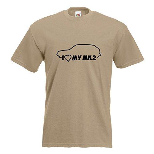 Kiwistar I Love my MK2 T-Shirt in 15 verschiedenen Farben Herren Funshirt bedruckt Design Sprüche Spruch Motive Oberteil Baumwolle Print Größe S M L XL XXL Khaki