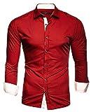 Kayhan Herren Übergröße Hemd, TwoFace Rot 4XL
