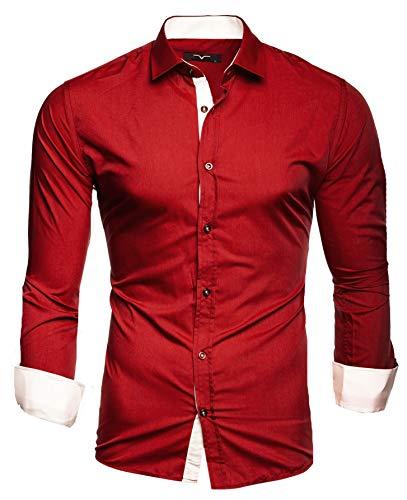 Kayhan Herren Hemd, TwoFace Rot XL