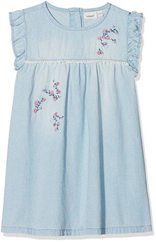 NAME IT Baby-Mädchen Kleid Nmfasoya Dnm 1026 Dress, Blau (Light Blue Denim Light Blue Denim), 104