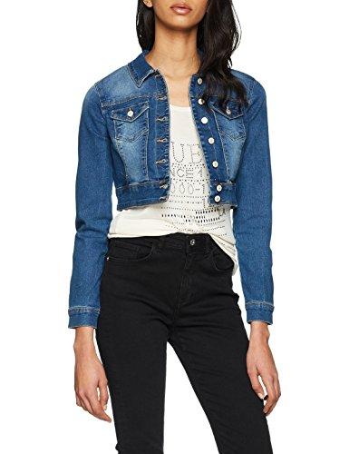 ONLY Damen Jeansjacke Onlnew Westa Cropped Dnm Jacket RP, Blau (Medium Blue Denim Medium Blue Denim), 38