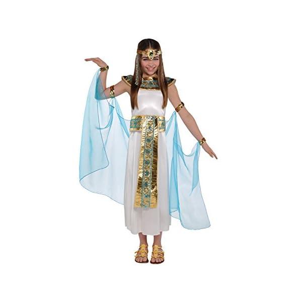 Christy's – Costume per travestimento da Cleopatra, Bambina, 4-6 anni