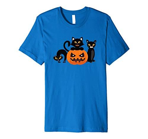 (Halloween Cats & Jack-O-Lantern Kürbis-Halloween-T-Shirt)