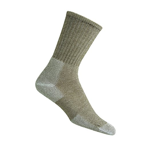 Thorlos Unisex Ultra Light Trekking Crew Socken L Cornstalk Brown