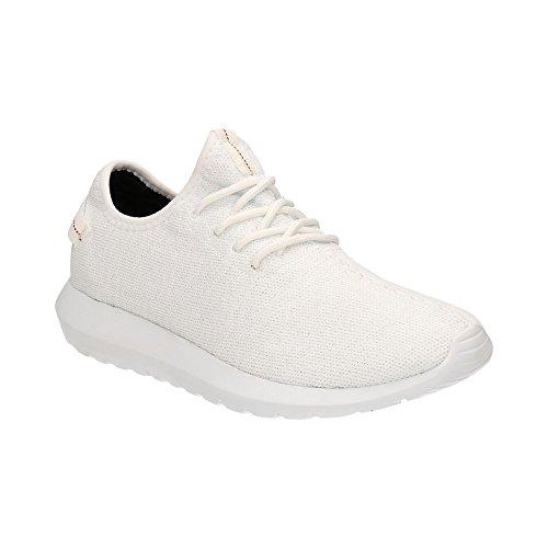 Herren Damen Sneaker Sportschuhe Lauf Freizeit Fitness Low Unisex Schuhe Weiss-W