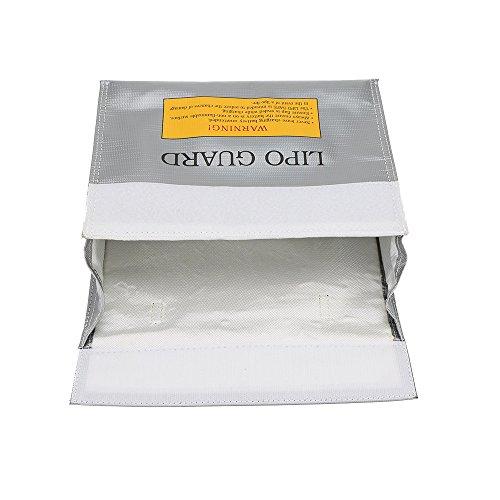 Goolsky 24 * 18 * 6,5 cm silber hochwertige Glasfaser RC LiPo Akku Safety Bag Safe Guard kostenlos Sack