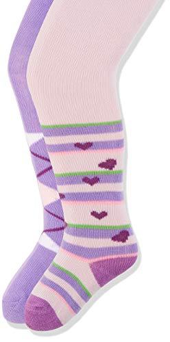 Karo Strumpfhosen (Playshoes Baby-Mädchen Karo und Herzchen mit Komfortbund Strumpfhose, Mehrfarbig (Original 900), Herstellergröße: 62/68 (erPack 2))