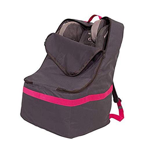 Autositz-Reisetasche Robuster gepolsterter Rucksack schützt Ihren Kindersitz und die Verwendung für das Flugzeug,blackredribbon