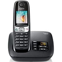 Gigaset C620A BLK - Teléfono inalámbrico (con contestador y pantalla), negro [importado]
