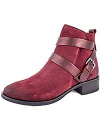 Tamaris - Zapatos de cordones de Material Sintético para mujer rojo rojo 36, color rojo, talla 38 EU