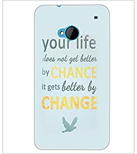 PrintDhaba Inspirational Quote D-2256 Back Case Cover for HTC ONE M7 (Multi-Coloured)