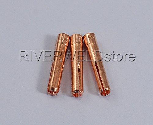 WIG Gaslinse Gasdüsen Spannhülsen Verschiedene Größe Fit WP-9 WP-20 WP-25 WIG-Schweißbrenner 9pcs - 4
