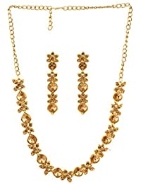 Bling N Beads Gold Floral Necklace Set For Girls/Women