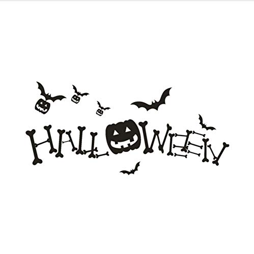 YUSHANGG Wall Stickers Stickers Holiday Decoration 2017 Happy Halloween Pumpkin Bone Wall Stickers Window Home Decoration Decal Decoration #60 * 30Cm