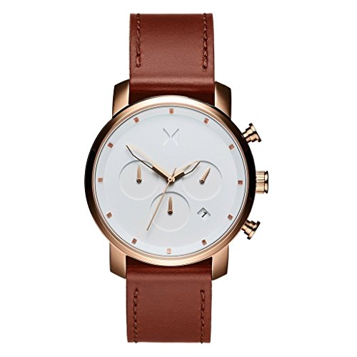 MVMT CHRONO ROSE GOLD NATURAL TAN LEATHER 40mm HERREN WATCH UHR
