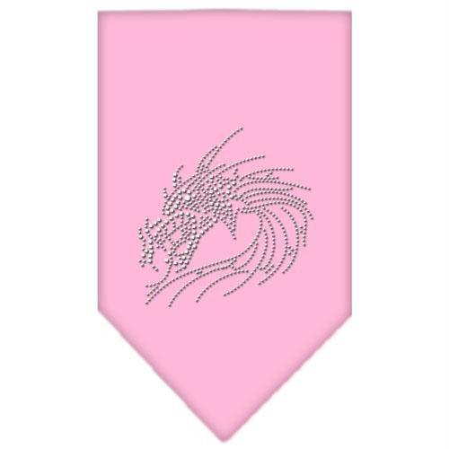 Mirage Pet Products Dragon Strass Bandana, Large, Light Pink -
