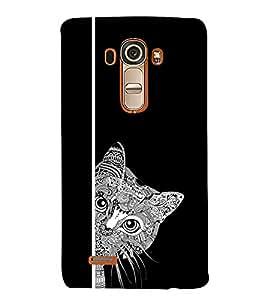 EPICCASE Artistic cat Mobile Back Case Cover For LG G4 (Designer Case)