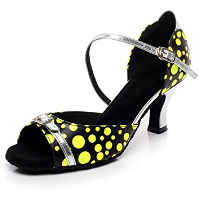 JChaussure Cristaux F eacute;minins Sparking Satin Latin Salsa Danse Chaussures Danse Tango Chacha Moderne Jazz Danse Chaussures - B0796NQSKF - a27f55