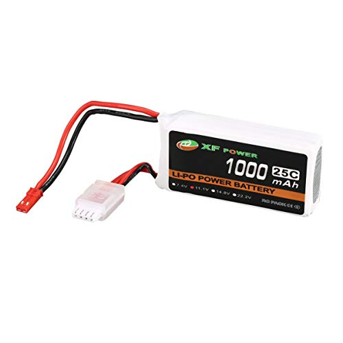 JullyeleFRgant XF Power 11.1V 1000mAh 25C 3S 3S1P Lipo Battery JST Plug Rechargeable for RC FPV Racing Drone Helicopter Car Boat Model