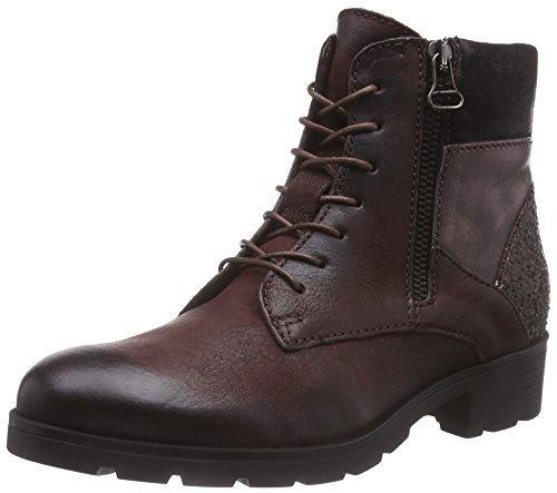 Mjus 584204-0201-0001, Damen Kurzschaft Stiefel, Rot (Rouge+Rame+Bordo+Bordo), 40 EU
