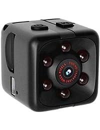Action Kamera,Nourich Mini Full HD 1080P DV Überwachungskamera Nachtsichtkamera Digitalkamera Videorecorder Selfie Motion Cam Nachtsicht Audio Halterungen (schwarz)