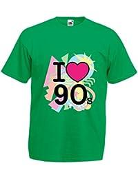lepni.me Camisetas Hombre ¡Amo los años 90! - Ropa de Estilo Retro