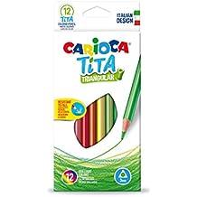 Carioca - Caja de 12 lápices de colores Tita triangular (42786)