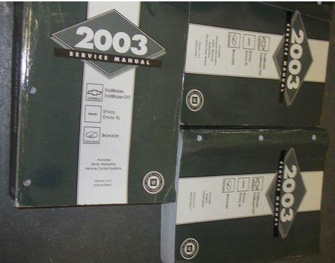 2003-gmc-envoy-truck-service-shop-repair-manual-set-dealership-huge