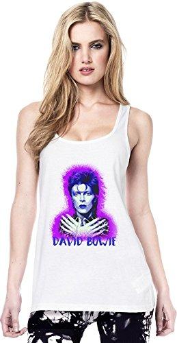 David Bowie Artwork Continental Tunica maglia delle donne Women Tunic Jersey Stylish Fashion Fit Custom Apparel By Genuine Fan Merchandise Large