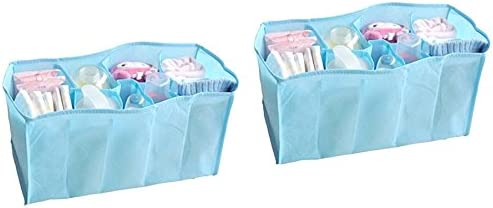 Okayji Portable Baby Diaper Nappy Changing Organizer Insert Storage Bag Outdoor Liner, 2-Pieces