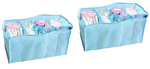 - 41p0Zk8XivL - Okayji Portable Baby Diaper Nappy Changing Organizer Insert Storage Bag Outdoor Liner, 2-Pieces home - 41p0Zk8XivL - Home