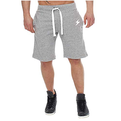 Amfirst Shorts Herren Sommer Sport Joggen und Training Kurze Hose Herren Shorts Mit Kordel Aus 100% Baumwolle Slim Herren Pure Color Spleißen Baumwolle Multi Pocket Overalls Shorts Fashion Pant -