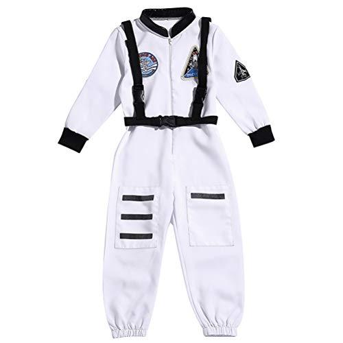 Halloween Boy Astronaut Overall Kind Astronaut Kostüm Kindertag Cosplay Kostüm (weiß L)