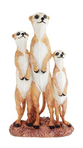 Erdmännchen Familie Figur Gartenfigur Tierfigur NEU