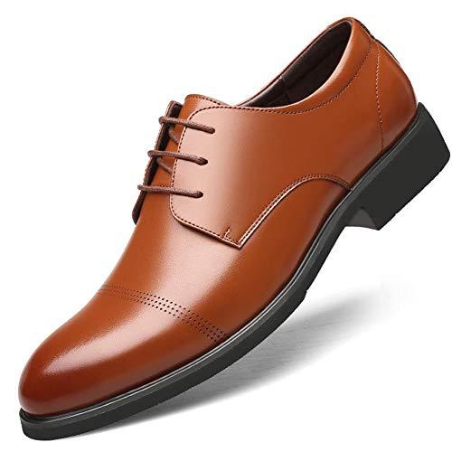Feidaeu Herrenschuhe Büro Hochzeit atmungsaktives Leder Sommer große Größe 37-45 Formale Oxfords Business-Schuhe - Dr. Scholls Leder Halbschuhe