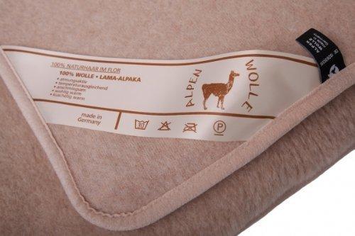 Wolldecke Lama Alpaca 20% Alpaca Wolle 80% Merino Wolle, Schurwolldecke (180x200)