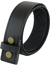 Real Leather Press Stud Belt 40mm wide for Jeans etc. 32-36