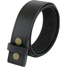 Ashford canto de cuero real de 40mm de botón de presión broche de presión en la correa en negro o marrón