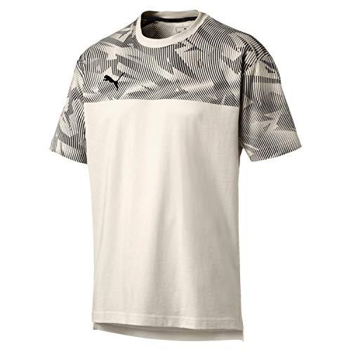 PUMA Herren Cup Casuals Tee T Shirt, Whisper White Black, XXL