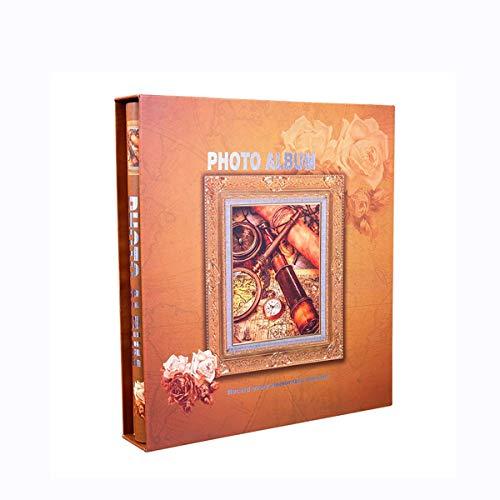 BWHTY Fotoalbum für 400 Fotos mit Einer Größe von 6X4 / 10.2X15.2Cm (4D) Klassische Interstitial-Hochzeit-Memoalben, Vertikale Version Fotos Tourismusliebe (Farbe: Gelb) -