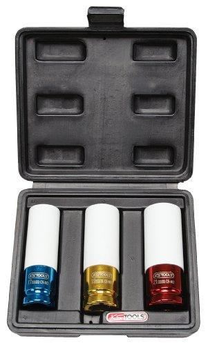 KS Tools 515.1005 Jeu de 3 douilles à choc pour Jantes aluminium Diamètre 17/19/21 mm